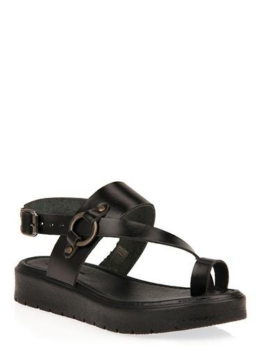 Uniquer Sandalet Siyah